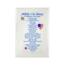 Military Love Poem Rectangle Magnet (100 pack)