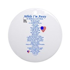 Military Love Poem Ornament (Round)