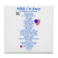 Military Love Poem Tile Coaster