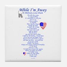 Military Love Poem Tile Coaster