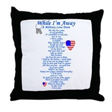 Military Love Poem Throw Pillow