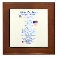 Military Love Poem Framed Tile