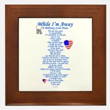 Military Love Poem Framed Tile