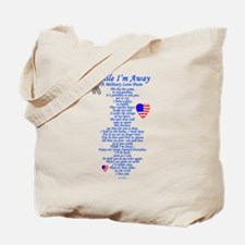 Military Love Poem Tote Bag