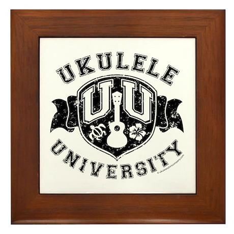 Ukulele University Framed Tile