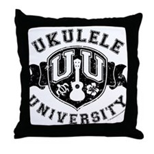 Ukulele University Throw Pillow