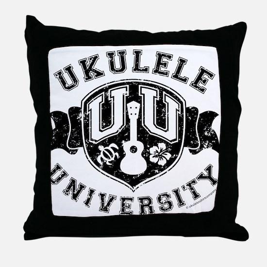 Ukulele University Throw Pillow