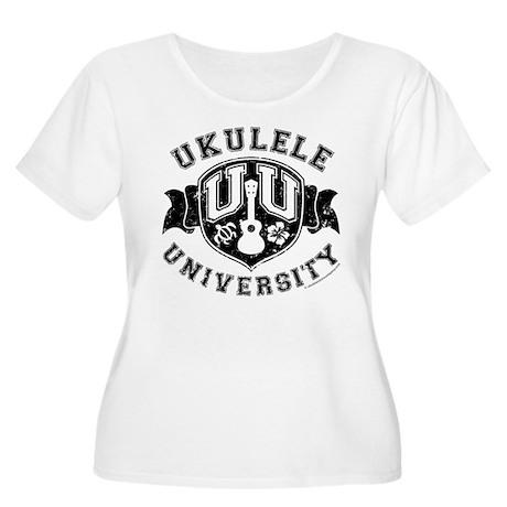 Ukulele University Women's Plus Size Scoop Neck T-