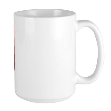 hammerhead on dive flag Large Mug