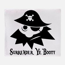 Pirate Booty Throw Blanket