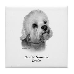 Dandie Dinmont Terrier Tile Coaster