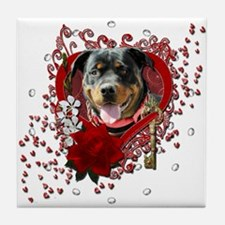 Valentines Key to My Heart Tile Coaster