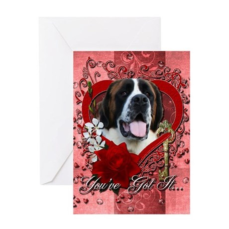 Valentines Key to My Heart Greeting Card
