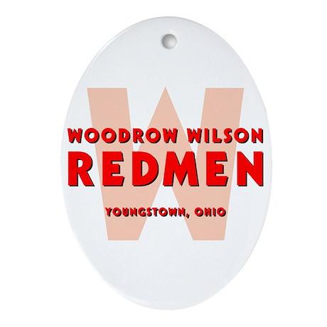 Wilson Redmen Ornament (Oval)