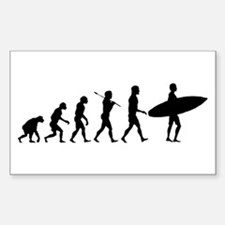 Surf Evolve Sticker (Rectangle)
