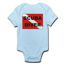 """Scuba Diver"" flag Infant Creeper"