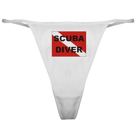 """Scuba Diver"" flag Classic Thong"