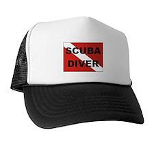 """Scuba Diver"" flag Trucker Hat"