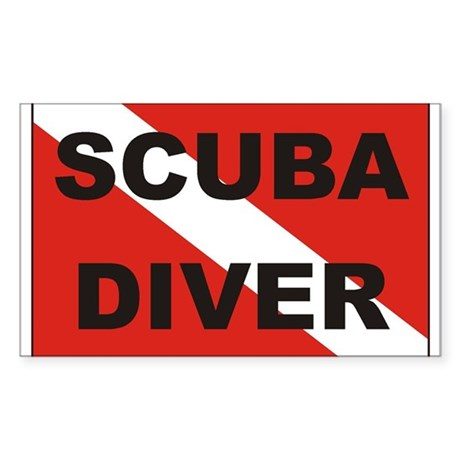 """Scuba Diver"" flag Rectangle Sticker"