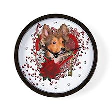Valentines - Key to My Heart Wall Clock