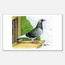Racing Homer Pigeon Sticker (Rectangle)