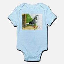 Racing Homer Pigeon Infant Bodysuit
