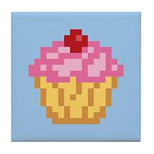 Pixel Cupcake Tile Coaster