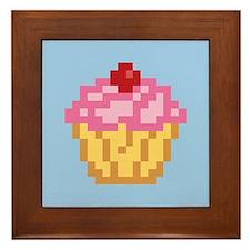 Pixel Cupcake Framed Tile