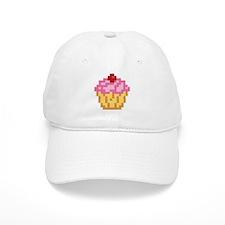 Pixel Cupcake Baseball Cap