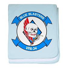 VFA-34 Blue Blasters baby blanket