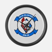 VFA-34 Blue Blasters Large Wall Clock
