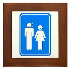 Bathrom Sign Humor Framed Tile
