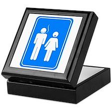 Bathrom Sign Humor Keepsake Box