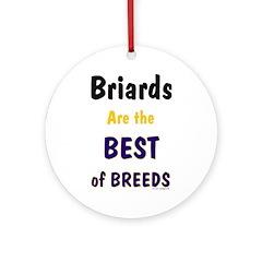Briard Best of Breeds Ornament (Round)