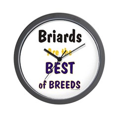 Briard Best of Breeds Wall Clock
