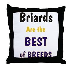 Briard Best of Breeds Throw Pillow