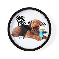 Vacation George Wall Clock