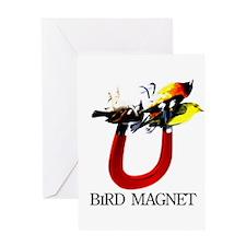 Bird Magnet Greeting Card