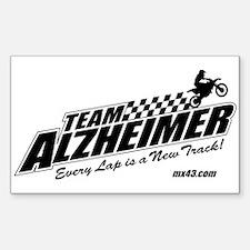 Team Alzheimer Sticker (Rectangle)