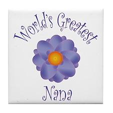 World's Greatest Nana Tile Coaster