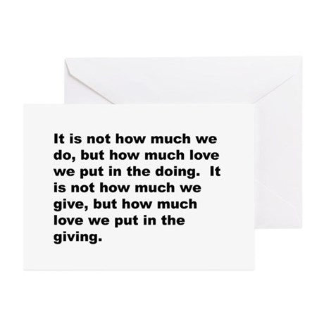 Quote Greeting Cards (Pk of 20)