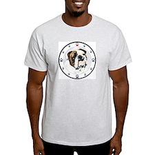Bulldog N Paws Ash Grey T-Shirt