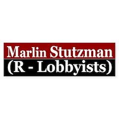 Marlin Stutzman (R-Lobbyists) bumper sticker