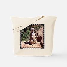 Meerkat on Rock Tote Bag
