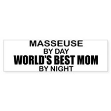 World's Best Mom - MASSEUSE Bumper Sticker