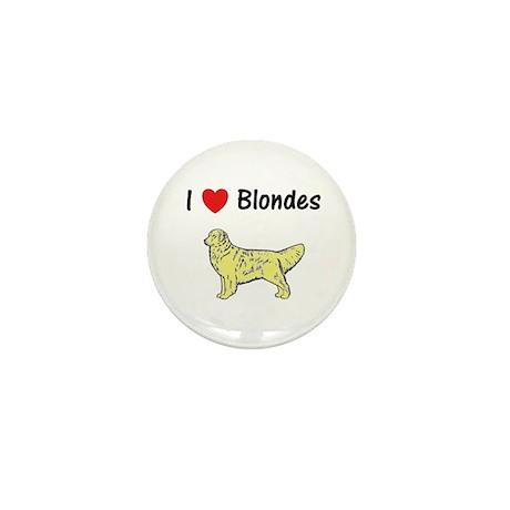 Love Blondes Mini Button