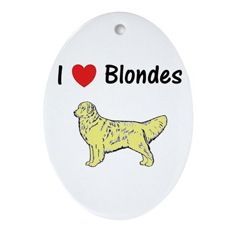 Love Blondes Ornament (Oval)