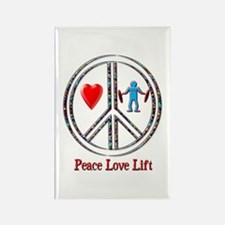 Peace Love Lift Rectangle Magnet