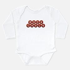 Rock Chalk BB Long Sleeve Infant Bodysuit