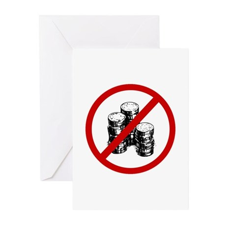 Anti Coins Greeting Cards (Pk of 10)